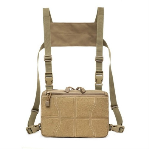Multi-functional Chest Bag for Outdoor Sports Portable Storage Backpack (Tan)