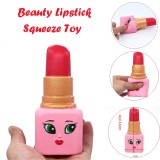 2 PCS Soft Beauty Lipstick Slow Rising Squeeze Relieve Stress Toy Squishy Stress Relief Toy Funny Kids Toy