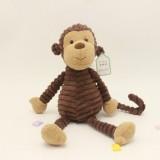 Striped Animal Plush Toy Doll Creative Animal Doll, Type: Monkey, Height: 15cm