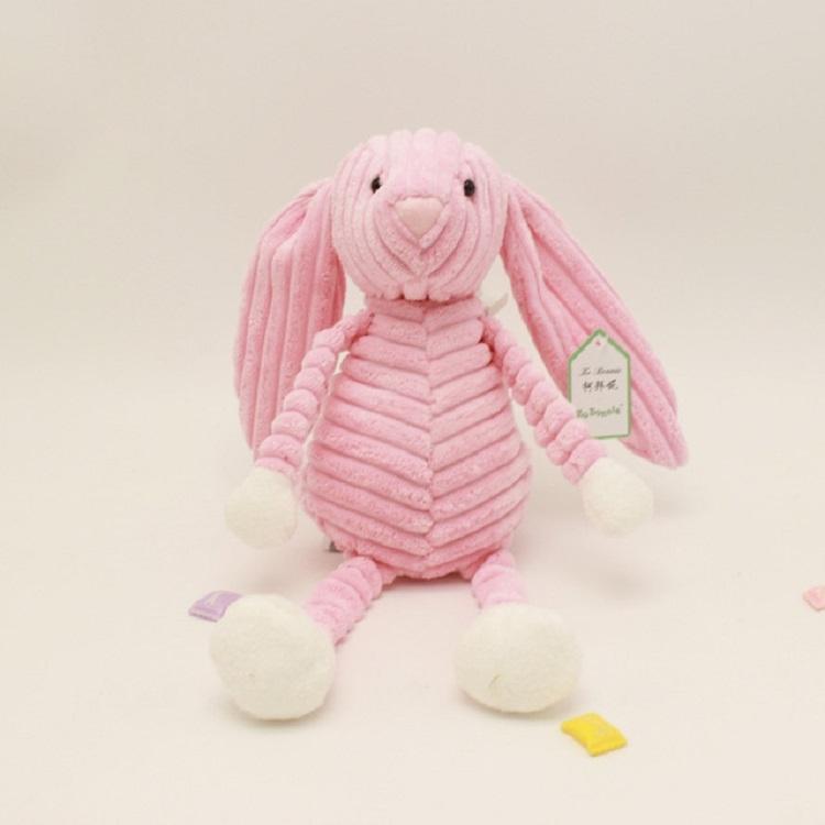 Striped Animal Plush Toy Doll Creative Animal Doll, Type: Pink Rabbit, Height: 15cm