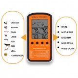 3 Sets Wireless Remote BBQ Thermometer Dual Probe Digital Cooking Meat Food Oven Thermometer