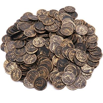 Children Pirate Treasure Toys Treasure Hunting Game Props Pirate gold Coin silver Coin copper Coin toys (Copper)