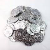 Children Pirate Treasure Toys Treasure Hunting Game Props Pirate gold Coin silver Coin copper Coin toys (Silver)