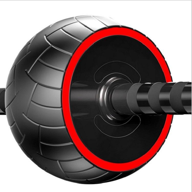 Household Fitness Equipment Tire Texture Abdominal Wheel for Men / Women (Red)