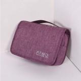 Cubes Portable Large Capacity Simple Multi-function Organize Bag Travel Storage Bag (Purple)