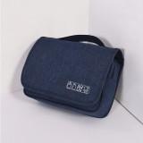 Cubes Portable Large Capacity Simple Multi-function Organize Bag Travel Storage Bag (Navy)
