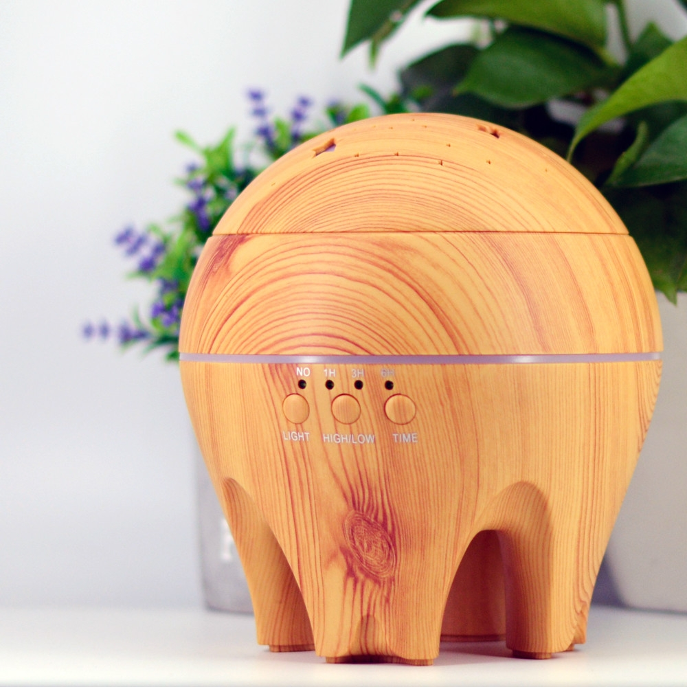 CLDX-105 500ml Essential Oil Diffuser Air Humidifier Starry Sky 7 Color LED Lights Ultrasonic Aromatherapy Diffuser, Plug Type: EU Plug (Light Wood)