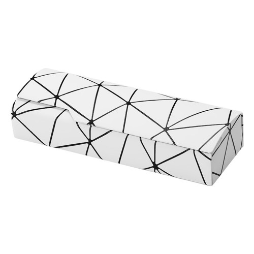 Lattice Pattern Portable Glasses Box (White)