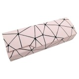 Lattice Pattern Portable Glasses Box (Light Pink)