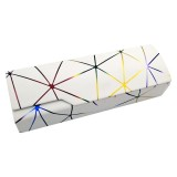 Lattice Pattern Portable Glasses Box (Dazzle White)