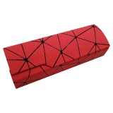 Lattice Pattern Portable Glasses Box (Red)