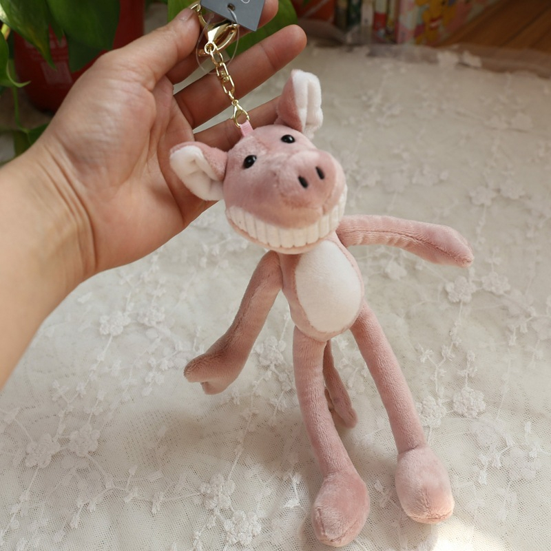 Piggy Plush Toy Keychain Plush Small Pendant Wedding Party Gift (Pink)