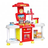 Children's Kitchen Pay House Toy Simulation Cooking Tableware with Light Sound Benefit Wisdom Toy Set