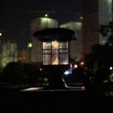 Solar Pillar Light Outdoor Waterproof Decorative Garden Lawn Wall Lamp (Warm White Light)
