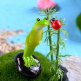 2 PCS Moss Micro Landscape Ornaments Fleshy Ornaments Standing Frog Small Ornaments
