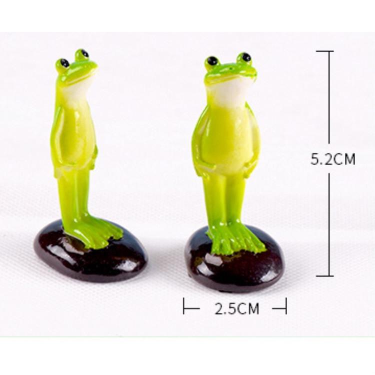 2 PCS Moss Micro Landscape Ornaments Fleshy Ornaments Standing Frog Small Ornaments