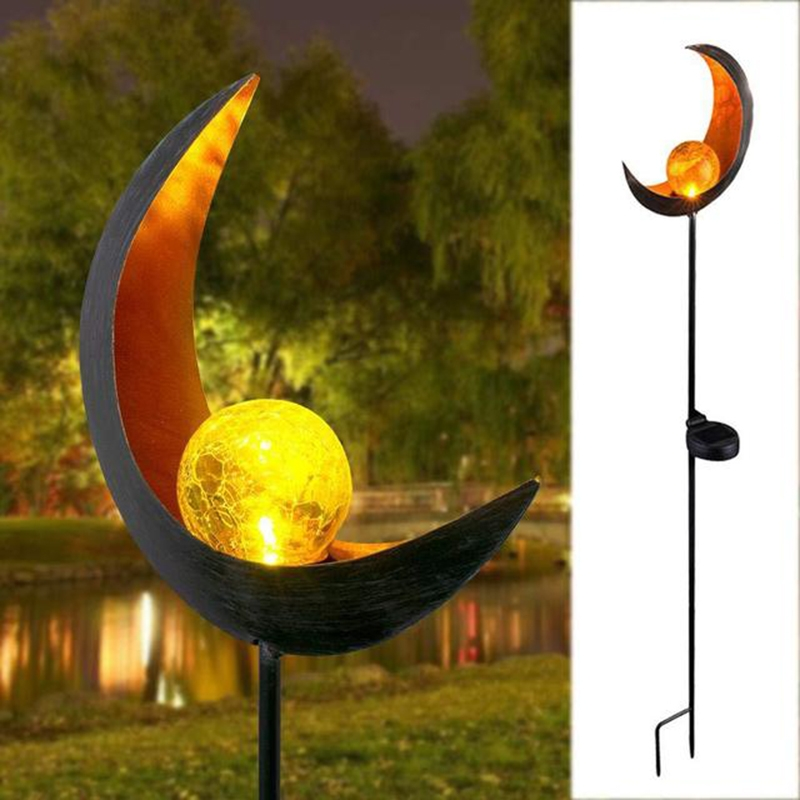 Solar Flame Light LED Iron Art Outdoor Garden Lawn Decorative Ground Plug Light Landscape Lamp (Style 5)