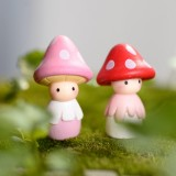 4 PCS / Set Cute Mushroom Doll Microscopic Bonsai Fleshy Ornaments Garden Ornaments