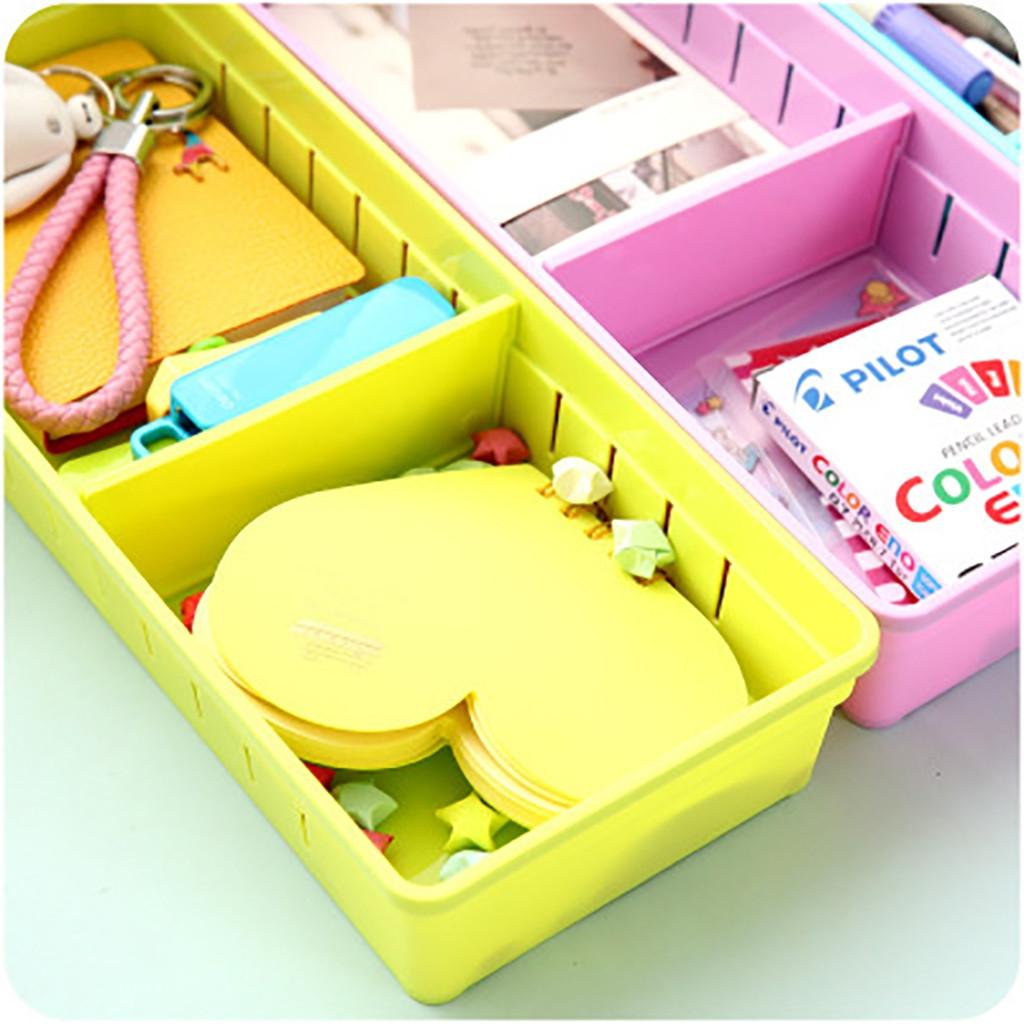 Adjustable Drawer Cutlery Divider Case Makeup Storage Organizer Box, Size: 30x12x5cm (Pruple)