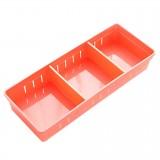 Adjustable Drawer Cutlery Divider Case Makeup Storage Organizer Box, Size: 30×7.5x5cm (Orange)
