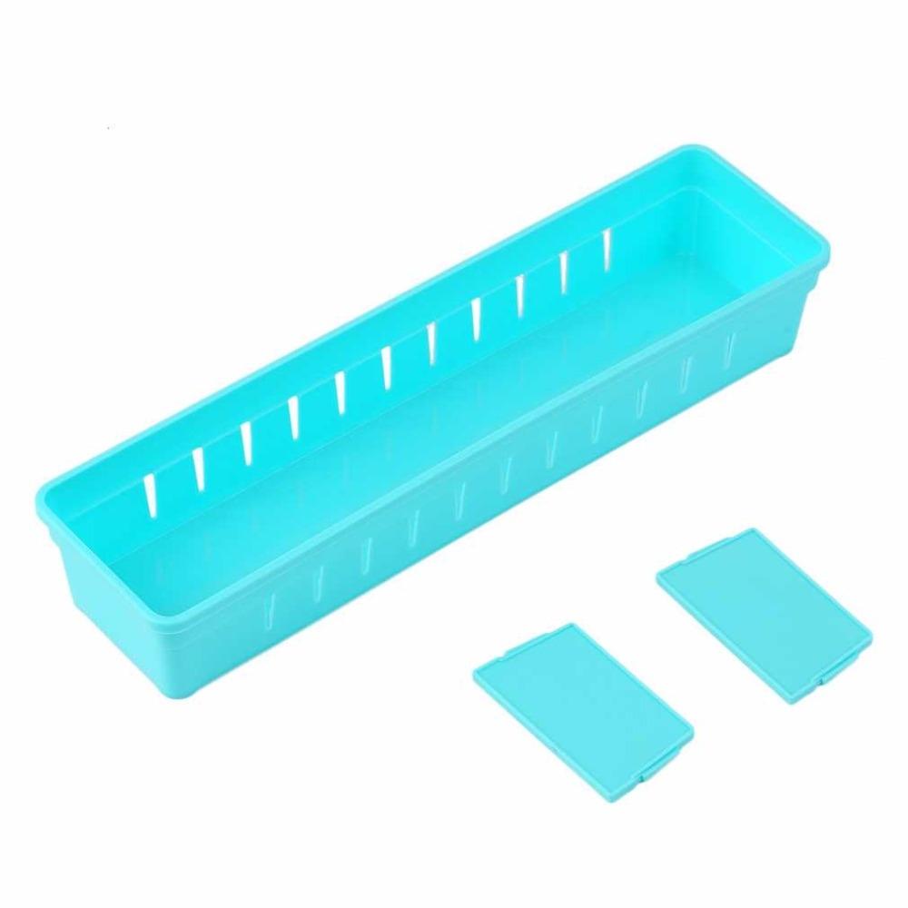 Adjustable Drawer Cutlery Divider Case Makeup Storage Organizer Box, Size: 30x7.5x5cm (Orange)