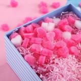 2 Pack 50 PCS / bag Mini Heart Love Foam Strip Gift Box Fluffy Filler Packing Wedding Flower Box Filler For DIY Party Supplies