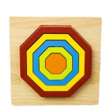 DIY Creative 3D Wooden Puzzle Geometry Shape Puzzle Children Educational Toys (Polygon)