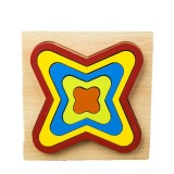 DIY Creative 3D Wooden Puzzle Geometry Shape Puzzle Children Educational Toys (Quadrilateral)