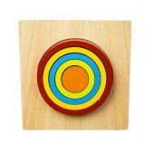 DIY Creative 3D Wooden Puzzle Geometry Shape Puzzle Children Educational Toys (Round)