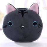 3 PCS Cute Cat Coin Purse Children Plush Coin Purse (Grey)