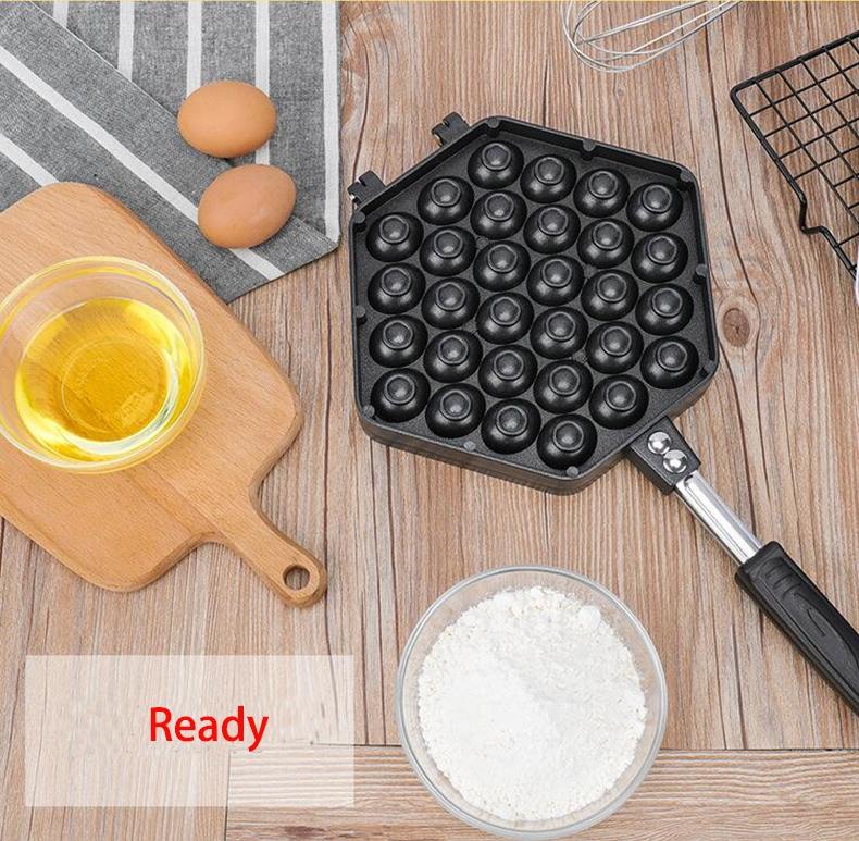 Household Non-stick Bakeware Mold QQ Egg Baking Tray (Black)