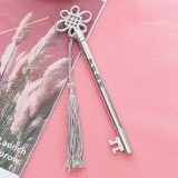 3 PCS Creative Personality Key Pen Fashion Palace Style Tassel Pendant Gel Pen (Silver G2-18)