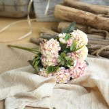 Artificial Flower Ball Chrysanthemum Home Decoration Wedding Bouquet Flower Plant Fake Flower (Champagne)