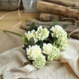 Artificial Flower Ball Chrysanthemum Home Decoration Wedding Bouquet Flower Plant Fake Flower (Green)