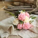 Artificial Flower Ball Chrysanthemum Home Decoration Wedding Bouquet Flower Plant Fake Flower (Princess Pink)