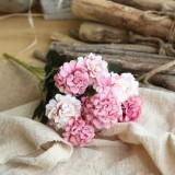 Artificial Flower Ball Chrysanthemum Home Decoration Wedding Bouquet Flower Plant Fake Flower (Pink)