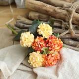 Artificial Flower Ball Chrysanthemum Home Decoration Wedding Bouquet Flower Plant Fake Flower (Orange)