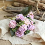 Artificial Flower Ball Chrysanthemum Home Decoration Wedding Bouquet Flower Plant Fake Flower (Purple)