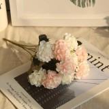 Artificial Flower Ball Chrysanthemum Home Decoration Wedding Bouquet Flower Plant Fake Flower (Milky Pink)