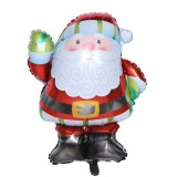 5 PCS Christmas Mini Cartoon Decoration Snowman Old Man Bell Christmas Tree Aluminum Film Aluminum Foil Balloon, Specificate: Santa Claus