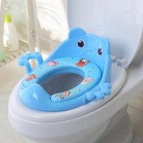 Toilet Training Baby Travel Potty Seat Portable Toilet Seat Infant Chamber Pots Cartoon Toilet (Blue)