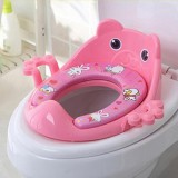 Toilet Training Baby Travel Potty Seat Portable Toilet Seat Infant Chamber Pots Cartoon Toilet (Pink)