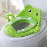 Toilet Training Baby Travel Potty Seat Portable Toilet Seat Infant Chamber Pots Cartoon Toilet (Green)
