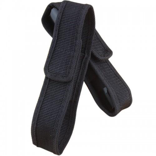 5 PCS Outdoor Glare Flashlight Cloth Set Portable Flashlight Nylon Cloth Cover (Black)