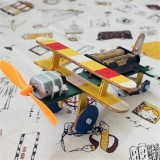 Children Technology Small Production DIY Electric Taxi Aircraft Model Handmade Materials Teaching Toys