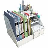 Magazine File Desk Bookcase Stationery Storage Box Book Shelf