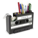 Creative Tape Shape Desktop Personalized Pen Holder Tape Holder Office Desktop Creative Storage Pen Holder (Gray)