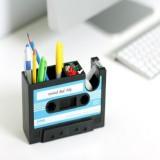 Creative Tape Shape Desktop Personalized Pen Holder Tape Holder Office Desktop Creative Storage Pen Holder (Blue)