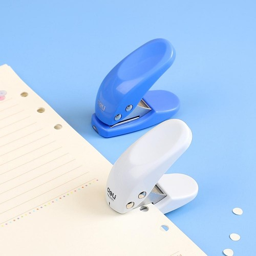 Deli Mini Small Hole Punch Single Circular Hole Punch Machine Manual Hole Punch, Size: 6x5.5cm, Random Color Delivery