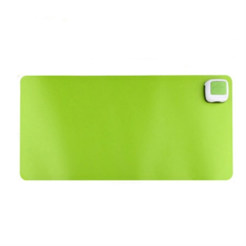 220V Electric Hot Plate Writing Desk Warm Table Mat Blanket Office Mouse Heating Warm Computer Hand Warmer Desktop Heating Plate, Color: Green Small Size